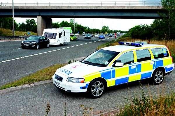 Traffic Police Officer Caravan