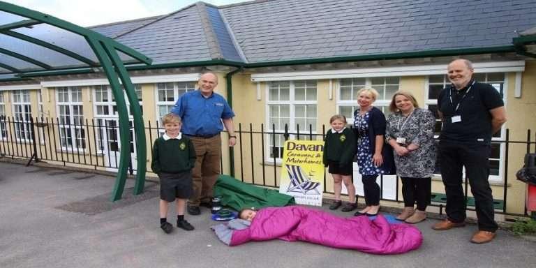 Davan Caravans Ltd Donating Camping Supplies to Banwell Primary School