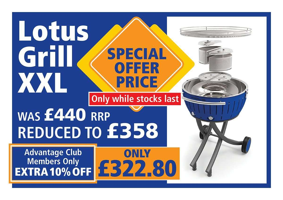 Amazing discounts on barbeques LotusGrill XXL available at Davan Shop for £322.80