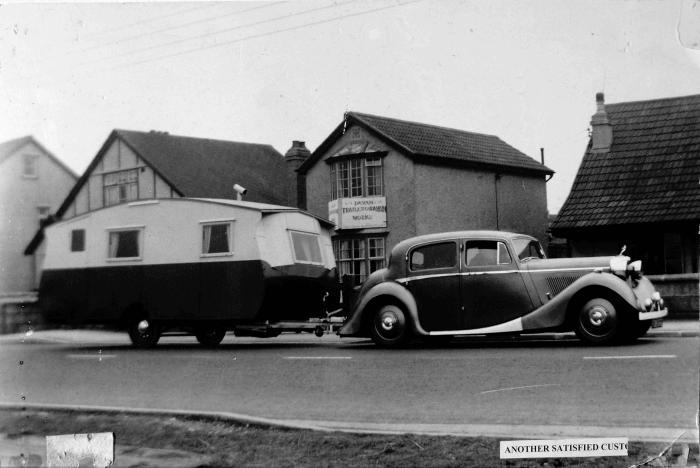 Early caravan camping