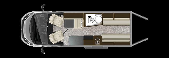 Autotrail V-Line 636 Sport layout