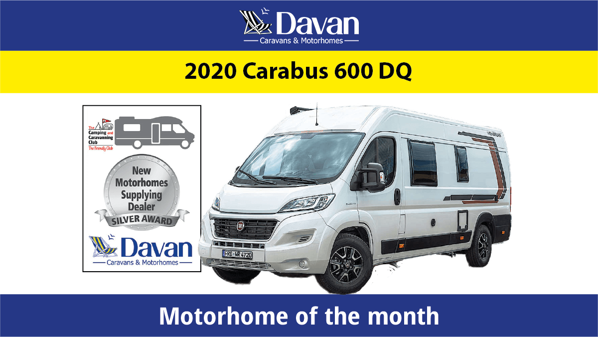 December Motorhome of the month Weinsberg Carabus 600DQ 2020 featured image
