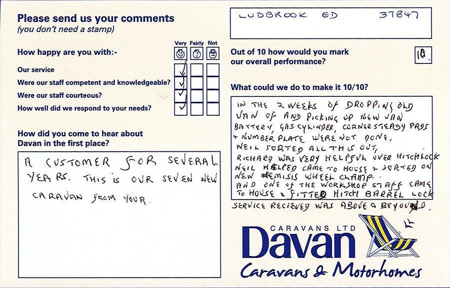 Davan Customer Testimonials Ludbrook