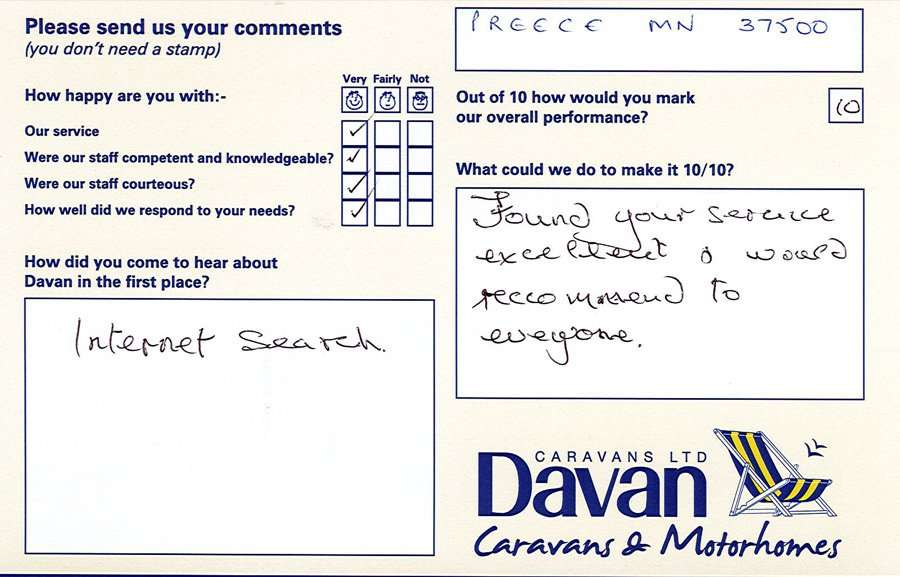 Davan Customer Testimonials Preece