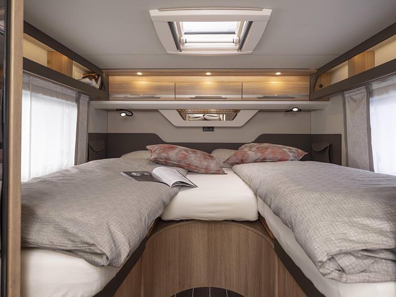 Knaus Sky Ti 650MEG sleeping area