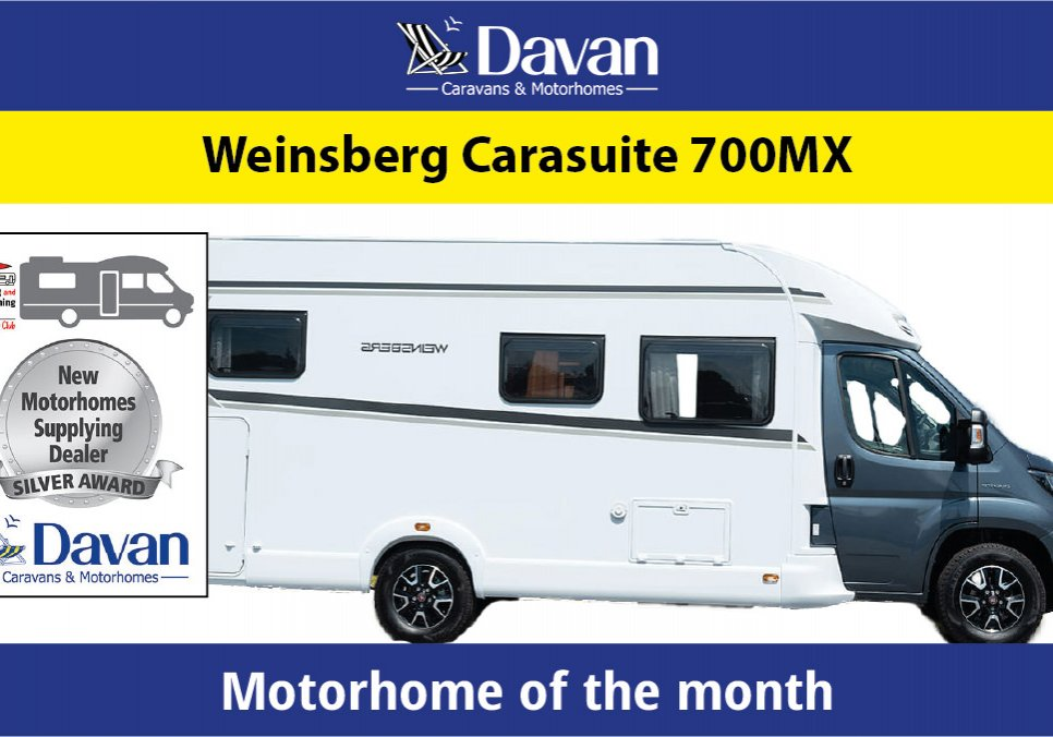 Motorhome of the month Weisnberg Carasuite 700MX November 2019